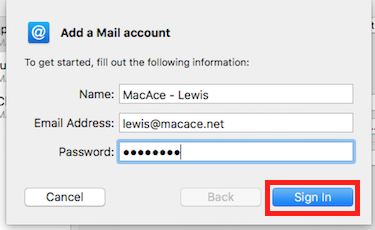 Step 2 - Add Email Information (Step 1)