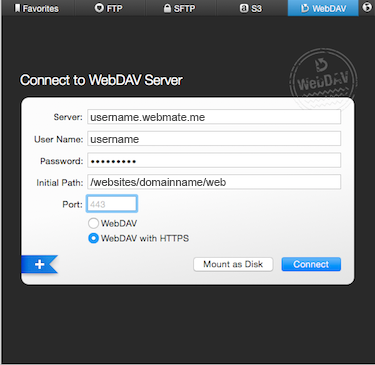 Using Transmit with WebDav - Knowledgebase - WebMate