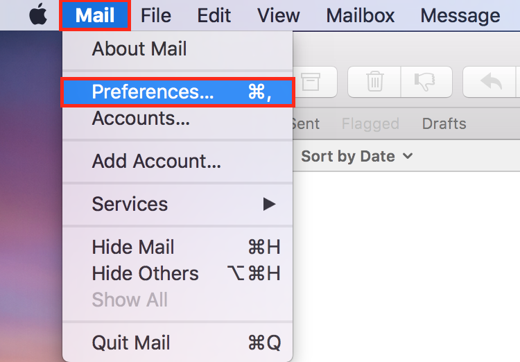 Delete & re-create the outgoing mail server in Apple Mail